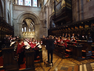 Gottesdienst in Hereford Cathedral, Juli 2014